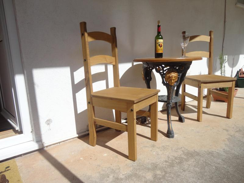 The lovely sunny terrace of The Lisbon pPacket - The Lisbon Packet: A bright one-bedroom flat - Brixham - rentals