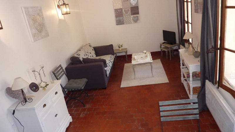 Living Room Dining Room - Charming apartment in the heart of l'Isle sur la Sorgue - L'Isle-sur-la-Sorgue - rentals