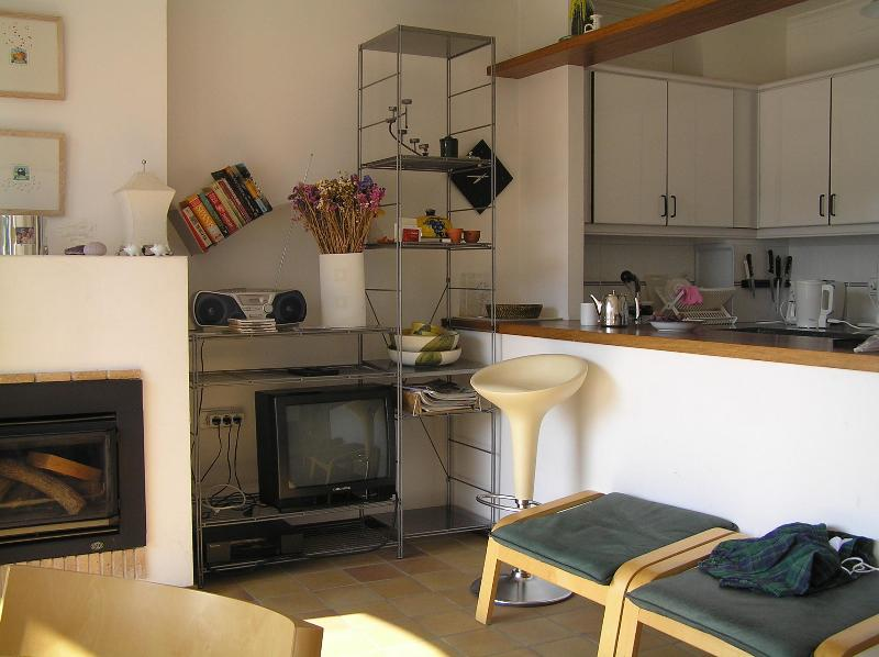 Kitchen and Living area - Beautiful apartment, 3 minutes walk to the beach - Cadaques - rentals
