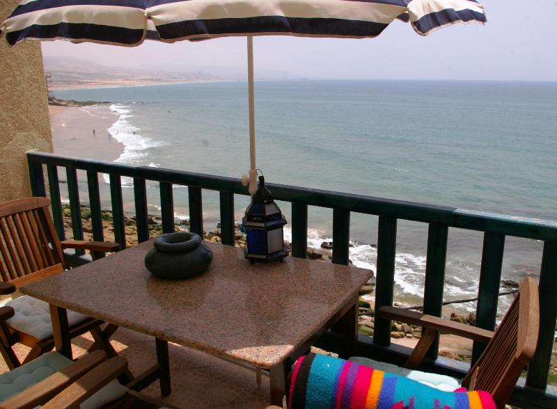 Great view,cosy terrace - Fabulous Sea View In Taghazout, Sea Front. - Taghazout - rentals