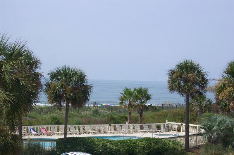 View from the balcony looking at ocean - Oceanfront Charleston A+ Views 10 Mi Hist Dist Art/Music/Dining/Festivals...MORE - Isle of Palms - rentals