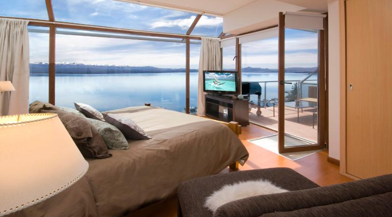 Master bedroom - 3 BEDROOM PENTHOUSE (TD3 ) JACUZZI, GYM & BBQ! - San Carlos de Bariloche - rentals