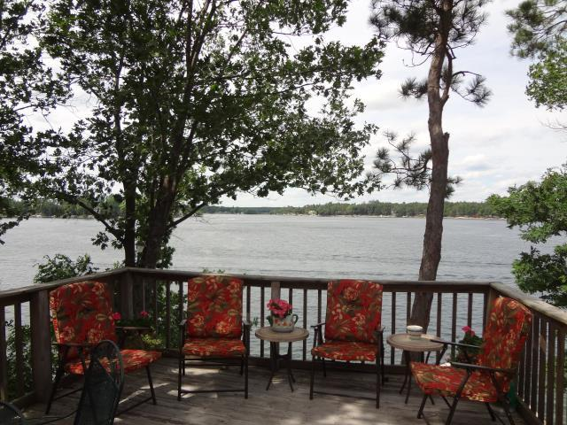 Lake from Deck - Amazing Views and Sandy Beach for you to enjoy - Wautoma - rentals