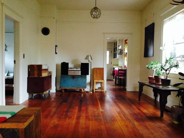 "Living Room : decent record collection, decent speakers, 1/8""  plug for your iphone or tape deck - Bright Restored Perfect Old House - Portland - rentals"