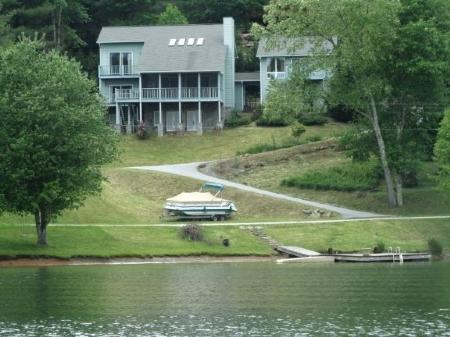 View of the house from the lake - Lazy Eagle - Cullowhee - rentals