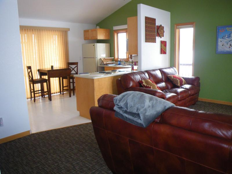 living room and kitchen with great natural light - A Perfectly Pleasant Place - Driggs - rentals