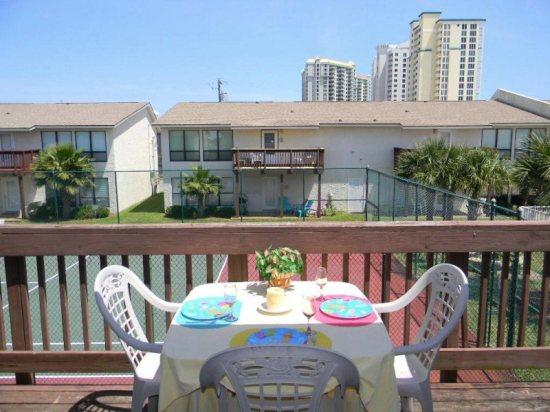Balcony Dining - Beachview Condominiums 204 - Navarre - rentals