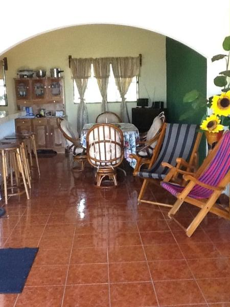 salvadorean tipical dinning room - Miramar beach house - La Libertad Department - rentals