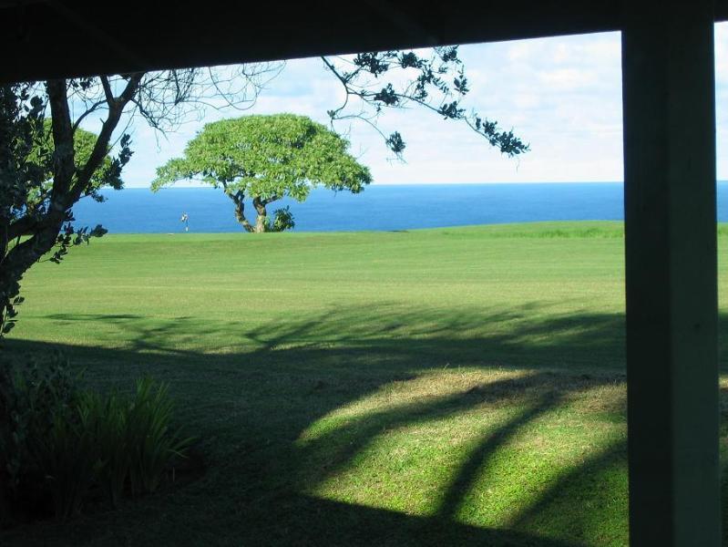 Ocean View from Living Room - Condo On Makai Golf Course Ocean & Mountain Views - Princeville - rentals