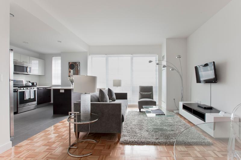 Living Room - Astounding 2-Bedroom Apartment with Great Views - Jersey City - rentals