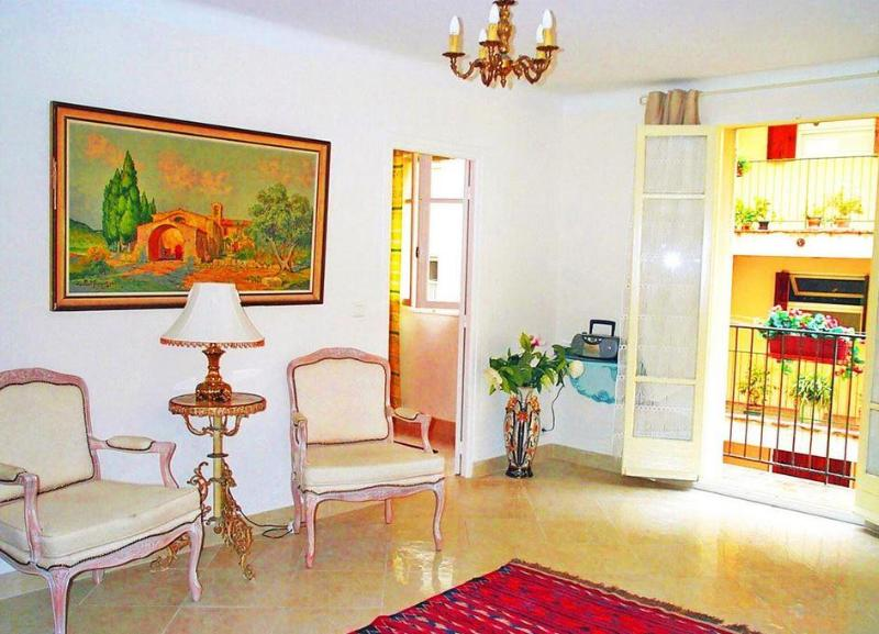 Living room with door to balcony - Old Town, Nice  - south-facing balcony, 1bedroom. - Nice - rentals