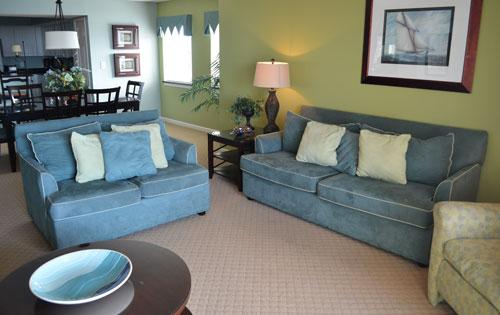Spacious living area - Great golf/huge pool/WiFi, Yacht Club 3BR 1-801 - North Myrtle Beach - rentals
