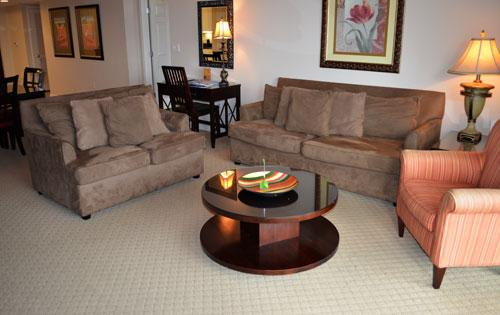 Living room with balcony access - 3BR Yacht Club waterfront w/ WiFi/pool/more! 2-203 - North Myrtle Beach - rentals