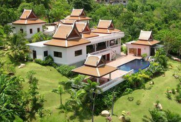 Aerial view - Stunning Thai style villa close to Layan beach - Thalang - rentals