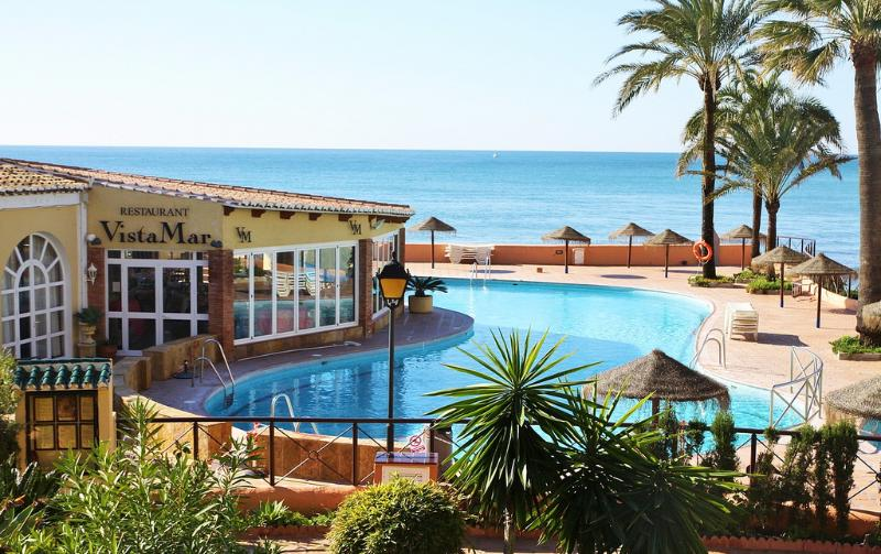 Main pool + children's pool + Restaurant - Beach-house with Pool+Spa+Tennis+Golf near Marbella Spain! - Sitio de Calahonda - rentals