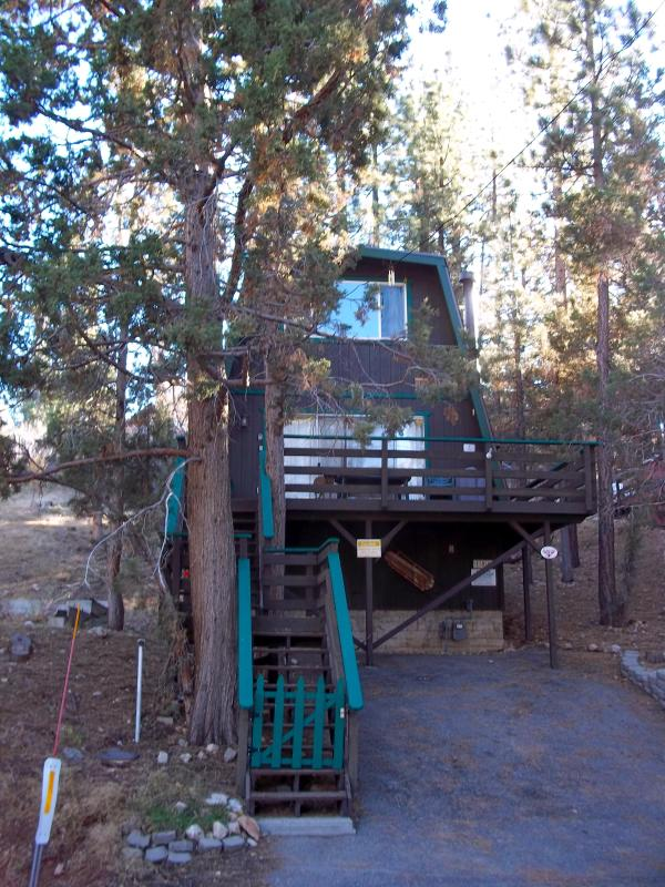 Outside view of Bair's Treehouse - Big Bear Cozy Treehouse Cabin - Big Bear City - rentals
