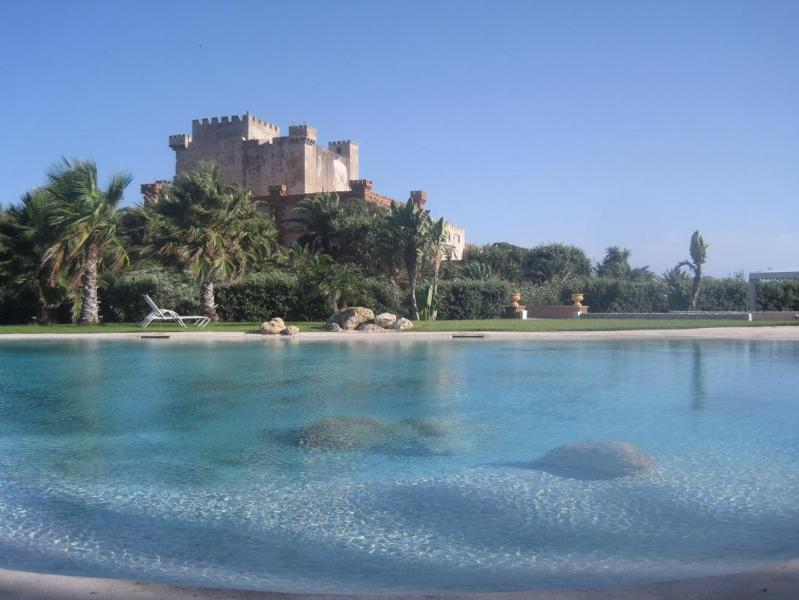 The pool and the castle - CASTLE OF THE HAWKS: XIII century castle wiht private beach and pool - Butera - rentals