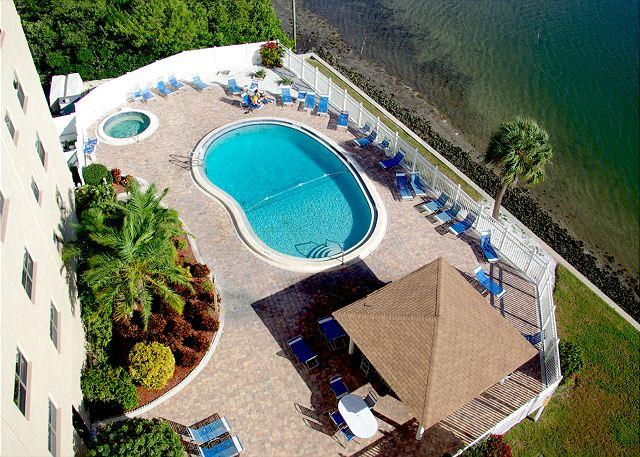 View of pool from balcony - Penthouse Intracoastal Unit! - Indian Shores - rentals