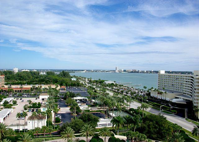 Northern view of Clearwater Beach outside of front door - 15th Floor Beauty in Sand Key! 2 Bedroom, 2 Bath-Sleeps 4. 30 day minimum. - Clearwater - rentals