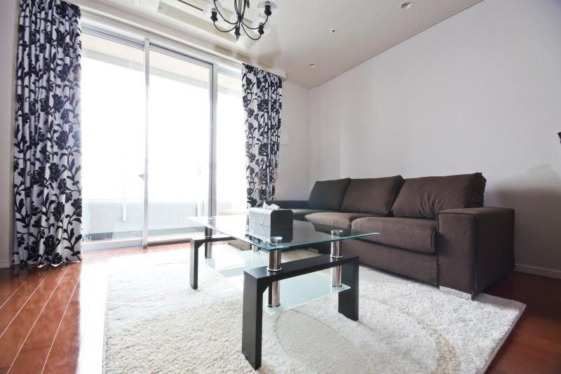 Living Room with a beautiful view of Tokyo Bay - Tokyo Bay, Raibow Bridge,Odaiba and Ginza2 - Chuo - rentals