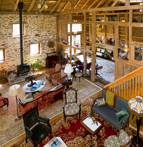 Main Common Room with wood buring stove - Converted Barn on 10 Acre Horse Farm in Bucks Co. - Perkasie - rentals