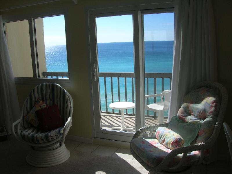 View from the living room, you're this close - West Panama City Beach / 30A Condo On the Beach - Panama City Beach - rentals