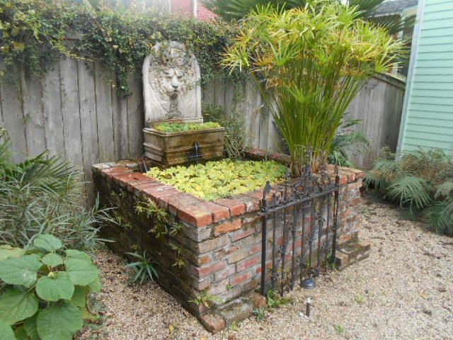 Rear yard fountain - Your own historical cottage, steps to the Quarter. - New Orleans - rentals
