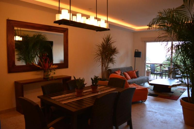 Dining and Living Room - Ocean View Condo, 2BR North Beach - Sayulita - rentals