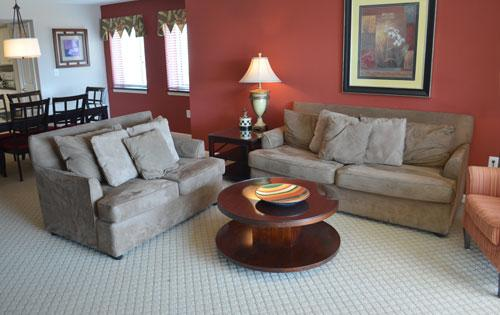 Large living room with balcony access - Gorgeous 3BR Yacht Club, pool/wifi/golf! 2-301 - North Myrtle Beach - rentals