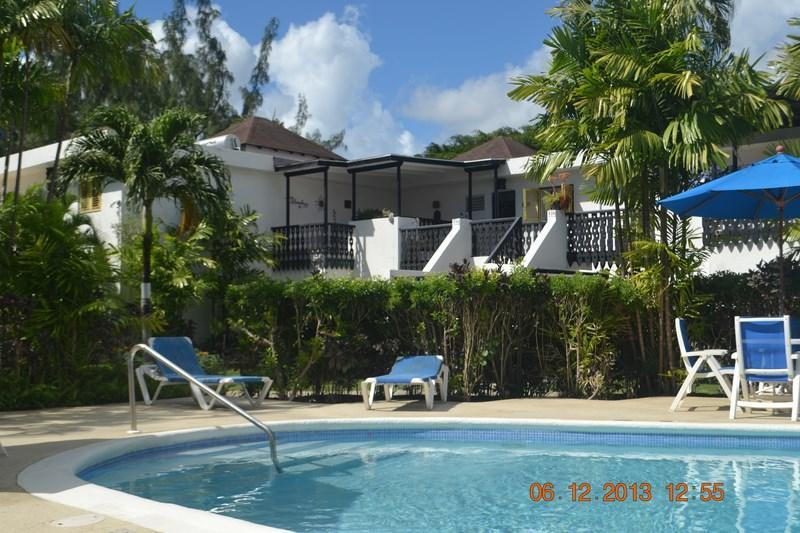View from pool to the apartment - One bedroom apartment  Rockley Golf & Country Club - Worthing - rentals