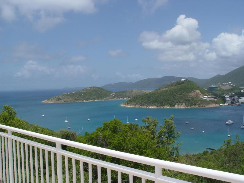View from the huge deck - Private 2 BR 2 B house with amazing views on Water Island, usvi - Water Island - rentals