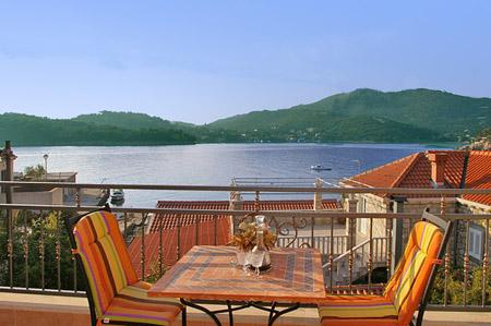 Penthouse in Villa with large terazze and sea view - Image 1 - Zaton - rentals