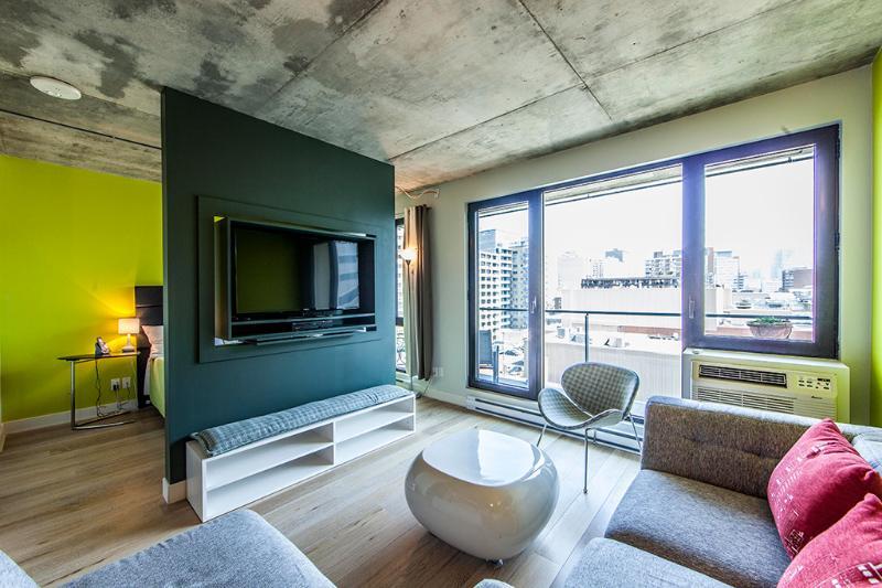 LIVING ROOM - LUXURY PIED AUX TERRE  LOFT - Montreal - rentals