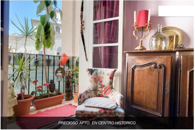 salon/balcon - Charming and colorful flat - Palma de Mallorca - rentals