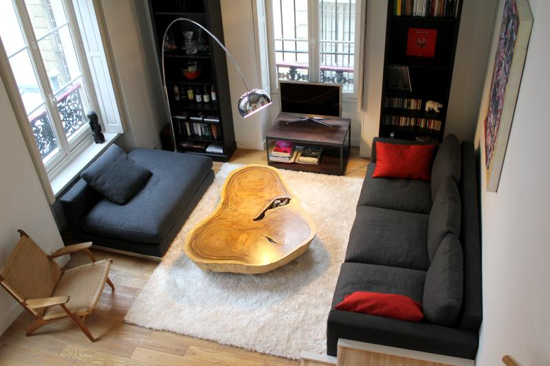 Living room - Luxurious Marais 2 bedroom apartment - Paris - rentals