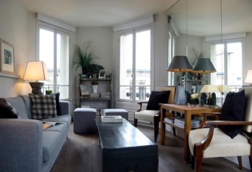 Living room - Marais Chic - Artistic Central Paris 1 bedroom apartment - Paris - rentals