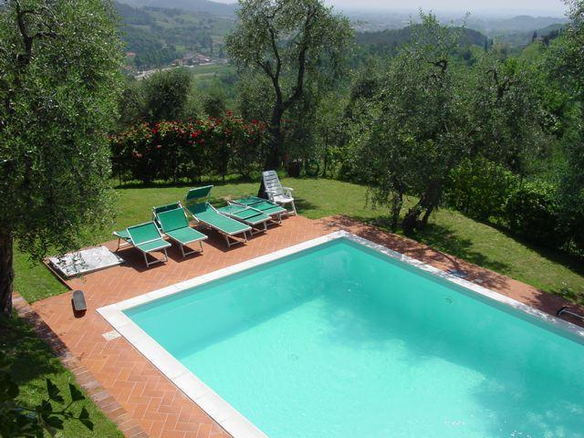 pool from the terrace - charming restored barn with private pool - Lucca - rentals