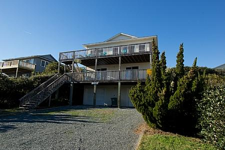 Second Row Front Exterior - Doyle's Sandfiddler - Excellent Ocean View, Spacious Interior, Near Beach Access - Surf City - rentals