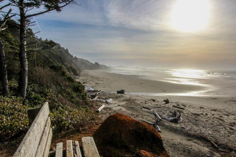 Ocean views, pet-friendly with private deck! - Image 1 - Otter Rock - rentals