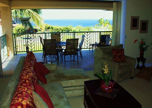 Living Room - Oceanview 3 Bd/3 Bath Wai'Ula'Ula- - Kamuela - rentals