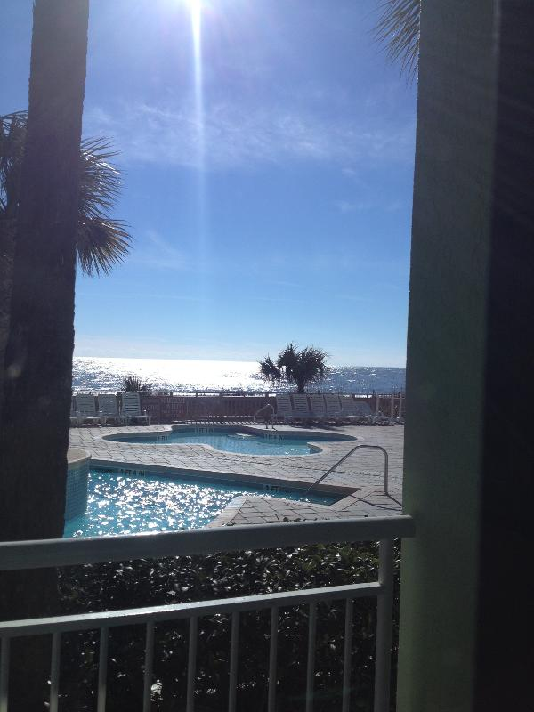 POOL/OCEAN VIEW  FROM BALCONY - Affordable Direct Oceanfront 1 Bedroom Condo with Pool and Hot Tub - Myrtle Beach - rentals