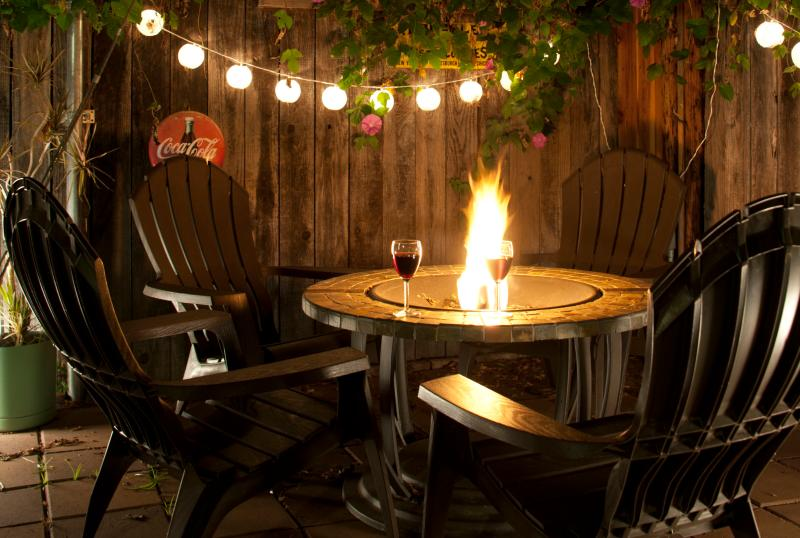 Outdoor Firepit and Chairs - Monthly Furnished Loft w/Fireplace & Private Yard - Pacific Beach - rentals