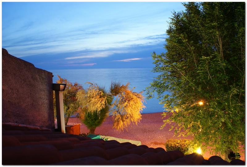 Balcony view at dusk - 1 Bedroom condo for 4 persons next to the beach - Primosten - rentals