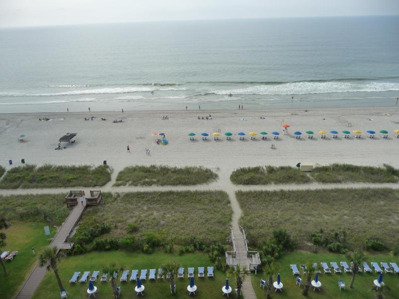 view from our balcony - Buy 5 get 2 nights free!  Spring,Summer dates - Myrtle Beach - rentals