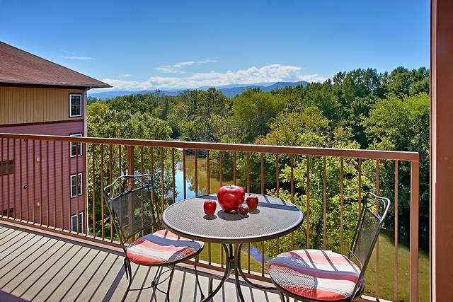 Balcony overlooking the river - A Bird's Eye View - Sevierville - rentals