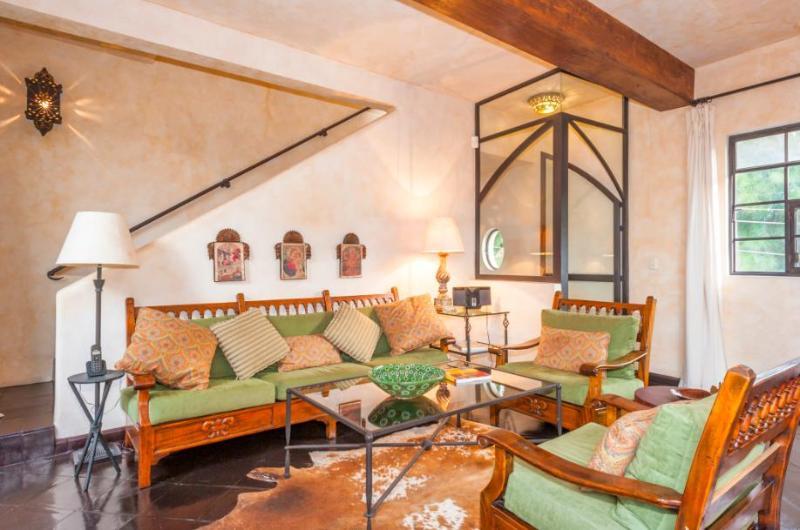 Sunny Living Room - Elegant Mexican Home - Casa Azteca - San Miguel de Allende - rentals