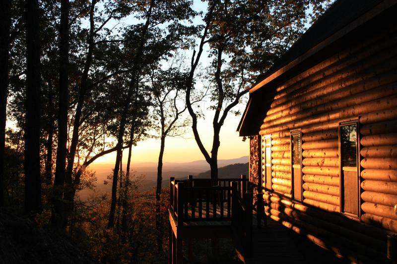 Side porch at sunset - Over the Rainbow - Ellijay - rentals