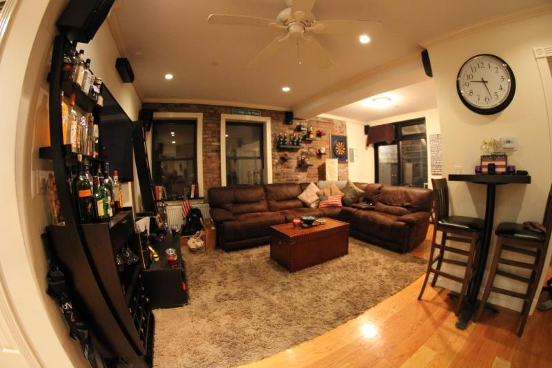 Front View of Living Room - LES 3BR Duplex w Private Backyard-Superbowl Dream! - New York City - rentals
