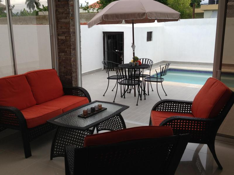 Terrace - Modern 3BR House w/Private Pool!! - Santiago Province - rentals