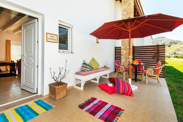 Patio front - Petaloudes House - Kolimbia - rentals